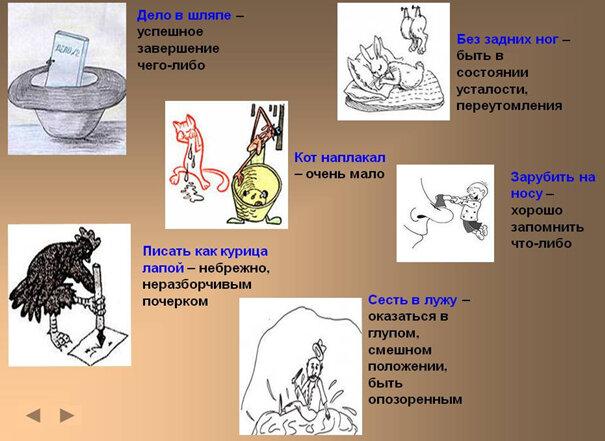 Фразеологизмы в картинках