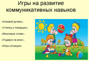 Игры для развития коммуникативных способностей детей